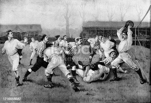 istock A Football Match by William Heysmann Overend - 19th Century 1216658682