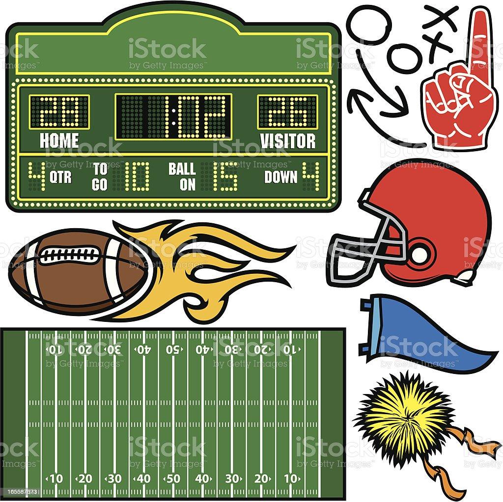 Football Package vector art illustration