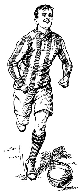 Football player   Antique Sport Illustrations