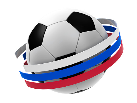 Football Russia 2018 with stripes