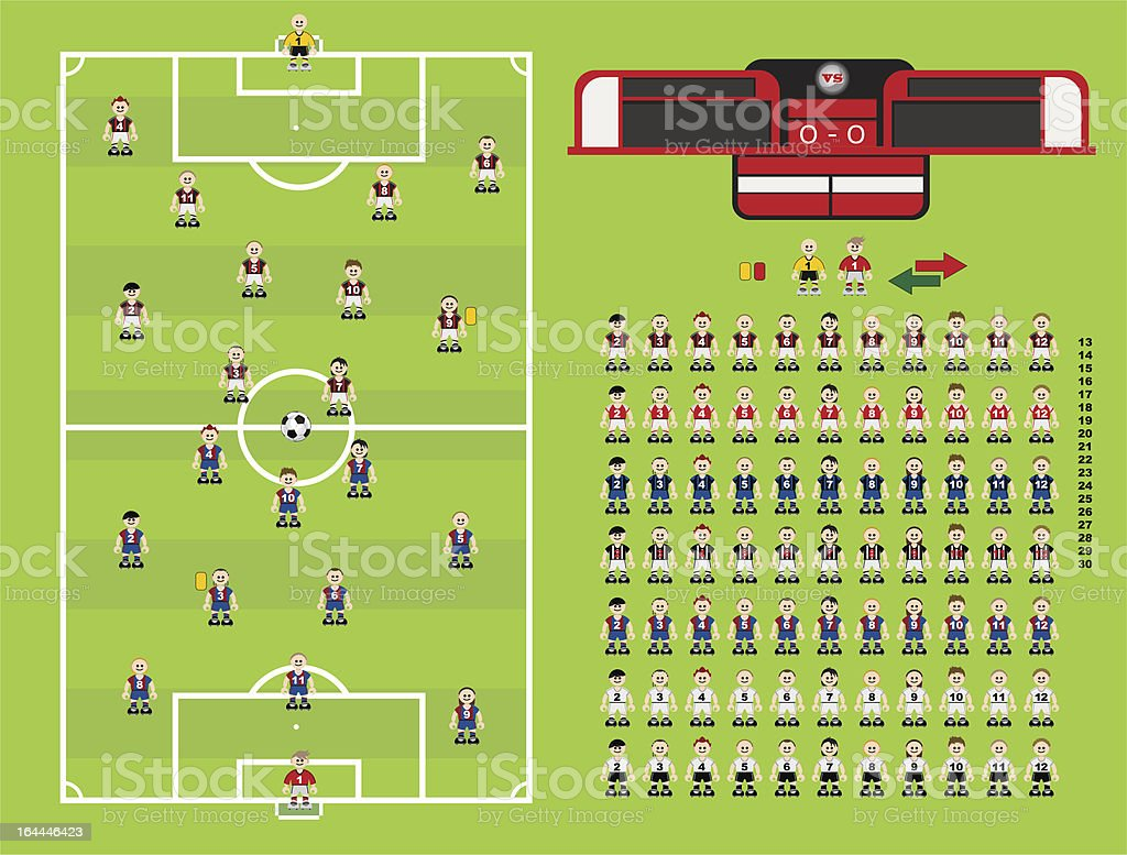 Coleção conjunto de futebol - ilustração de arte em vetor
