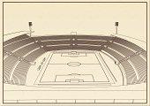 Football – soccer stadium