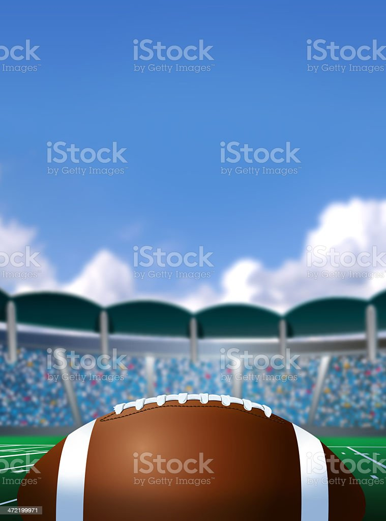Football Stadium Background vector art illustration