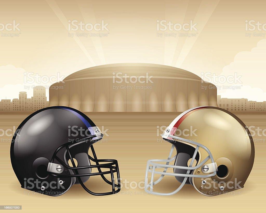 Football Stadium Championship royalty-free stock vector art