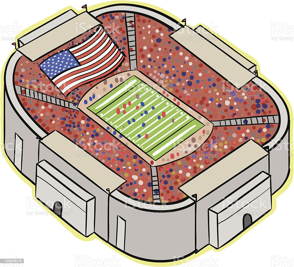 Football Stadium royalty-free football stadium stock vector art & more images of aerial view