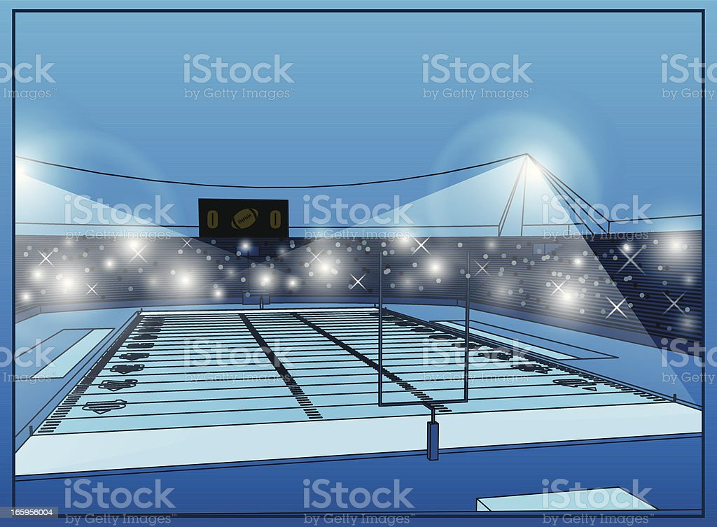 Football stadium royalty-free stock vector art