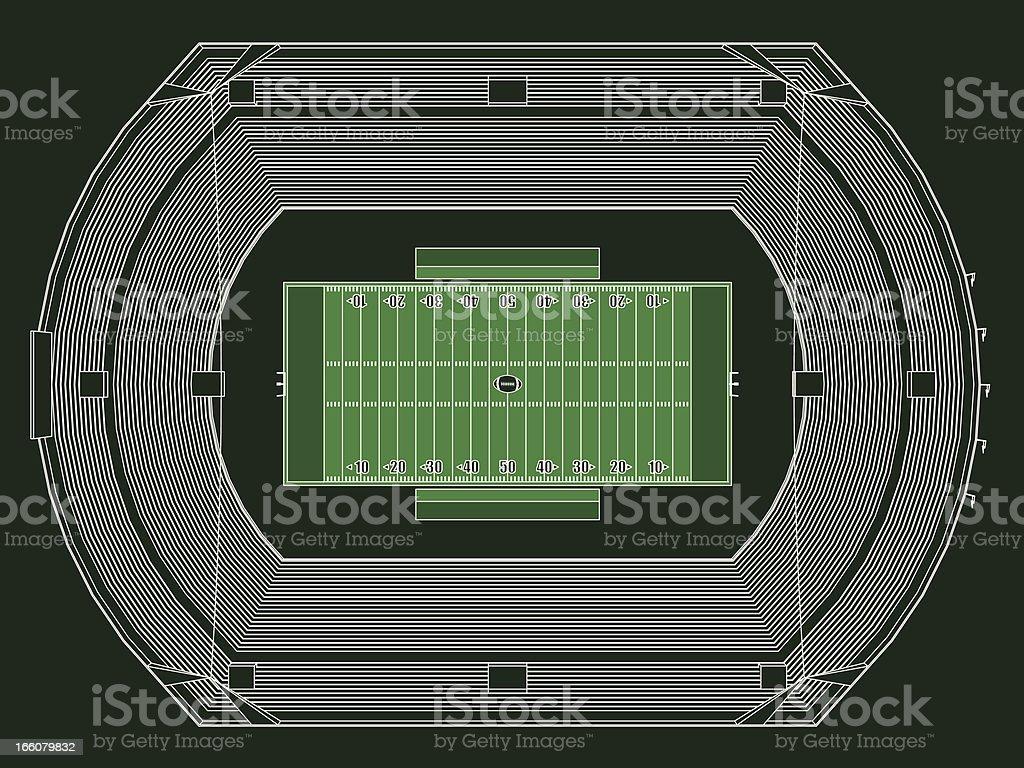 Football stadium royalty-free football stadium stock vector art & more images of american football - ball