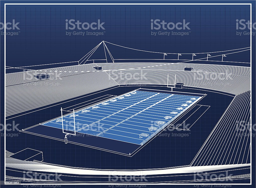Football stadium royalty-free football stadium stock vector art & more images of american football - sport
