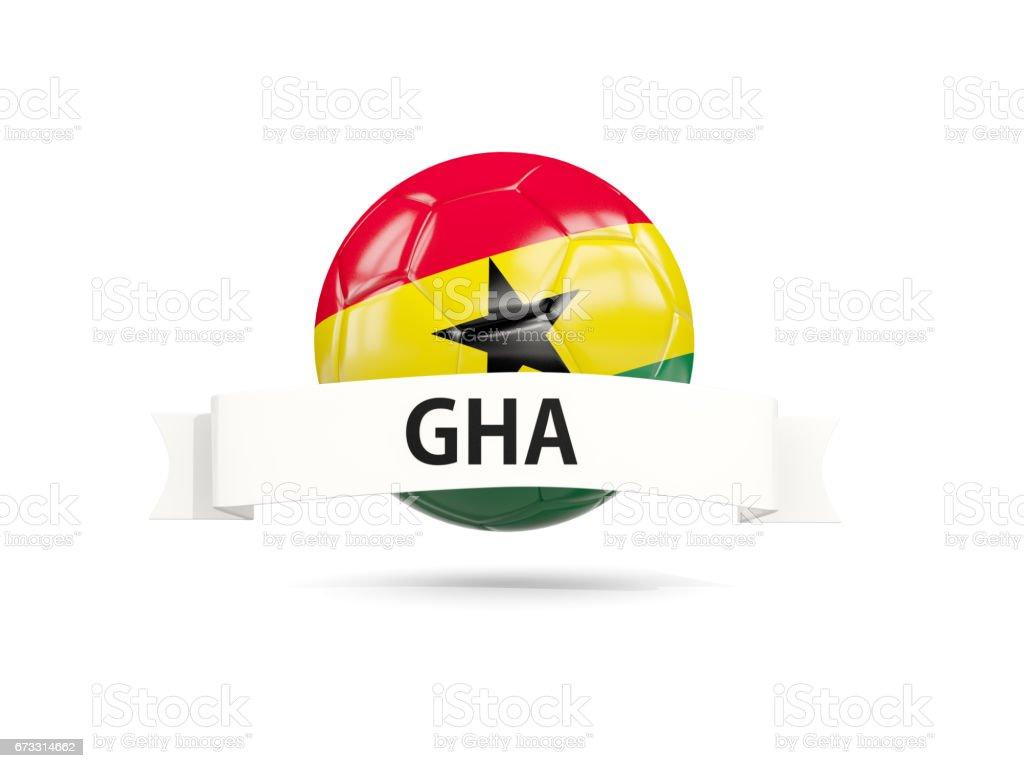Fútbol con la bandera de ghana - ilustración de arte vectorial