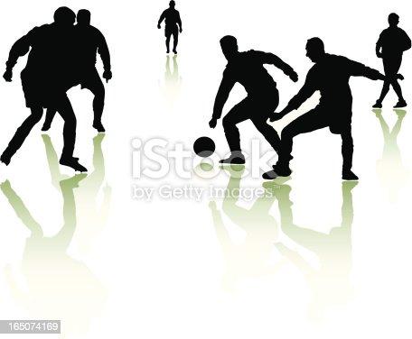 istock Footballer silhouettes 2 165074169