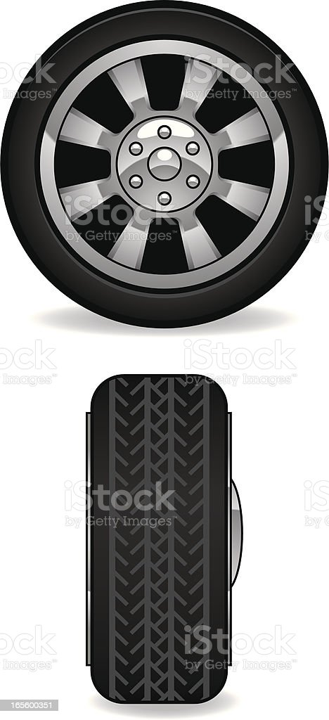 car tire royalty-free stock vector art
