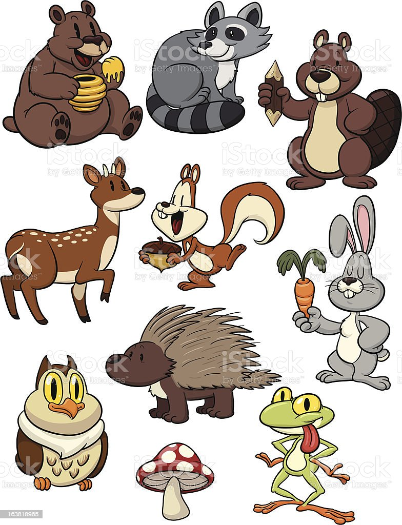 Forest animals. royalty-free stock vector art