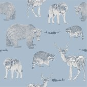 Forest Animals Repeat Pattern