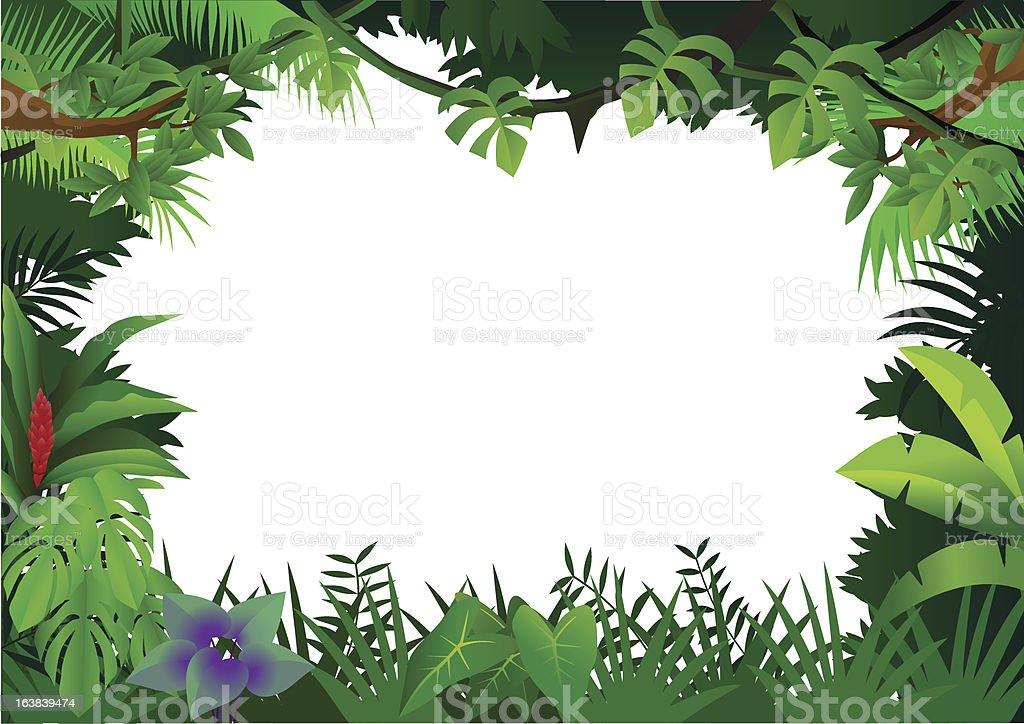 Forest Frame Stock Vector Art & More Images of Flower ...