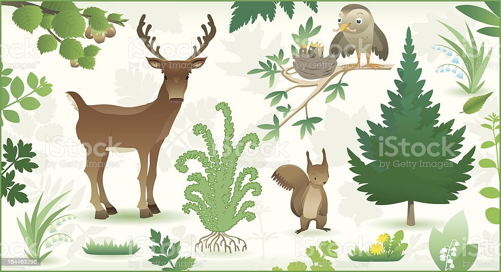 forest life. royalty-free stock vector art