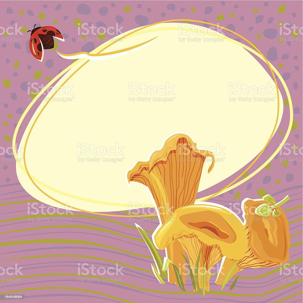 Forest Mushrooms (Chanterelles) royalty-free stock vector art