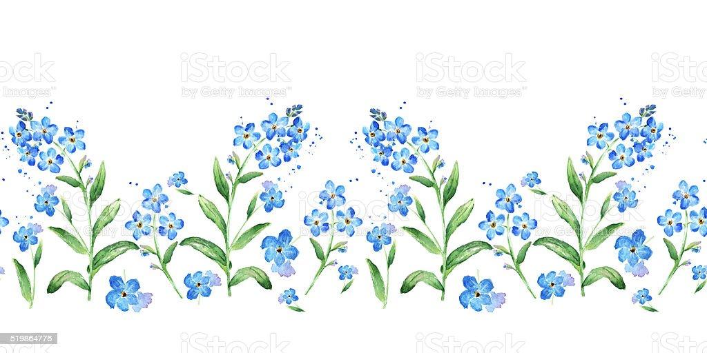 royalty free myosotis clip art vector images illustrations istock rh istockphoto com Blue Flower Clip Art Butterfly Clip Art