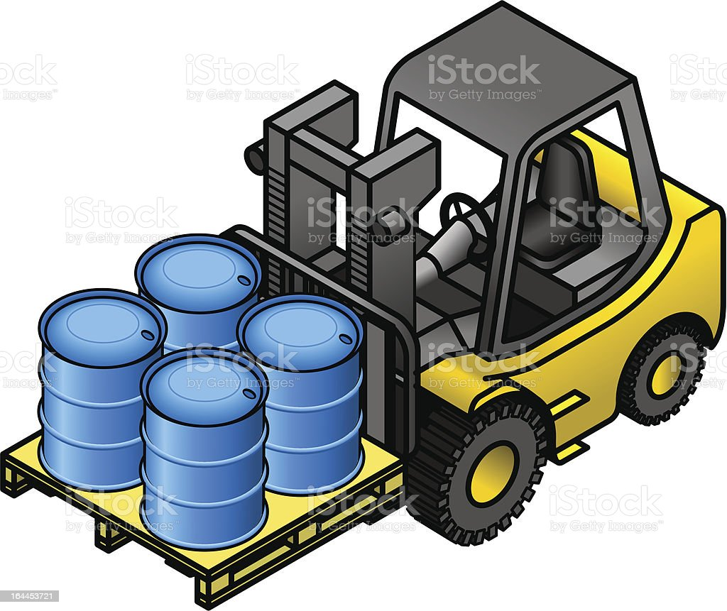 Forklift with drums royalty-free forklift with drums stock vector art & more images of barrel