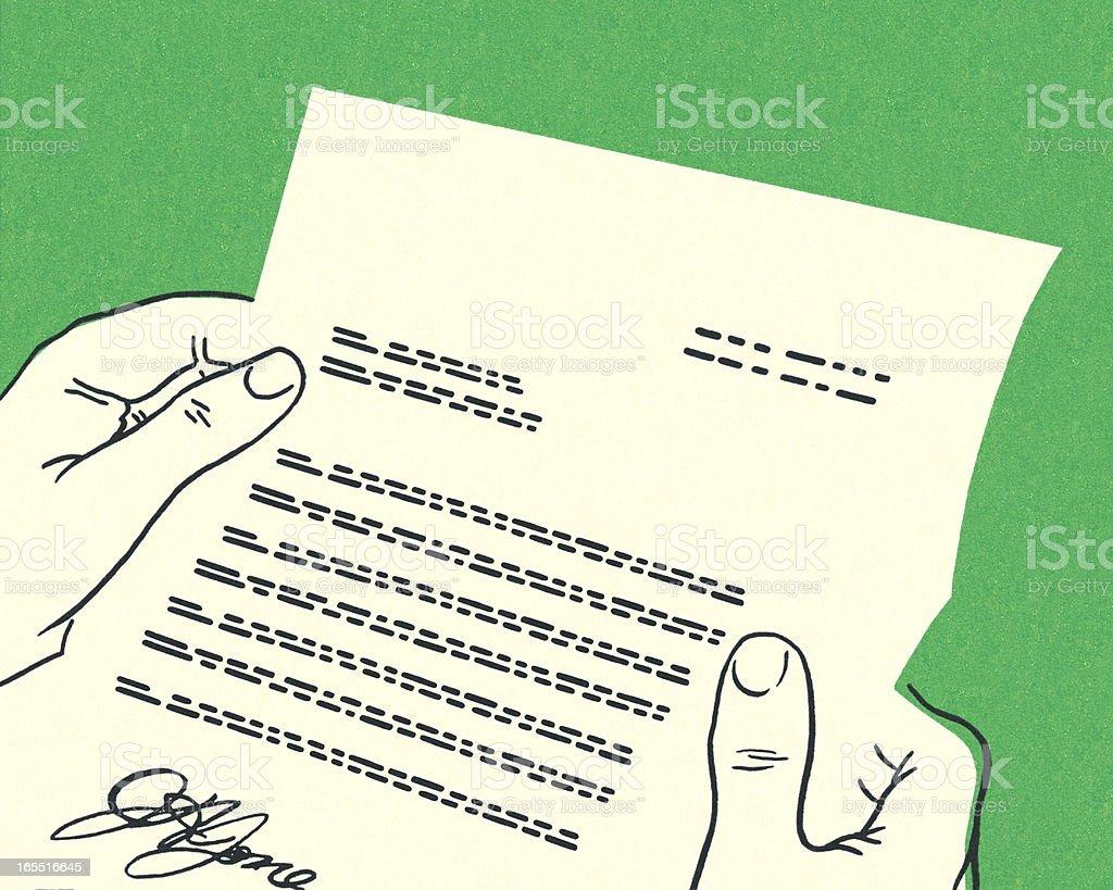 Formal Letter royalty-free stock vector art
