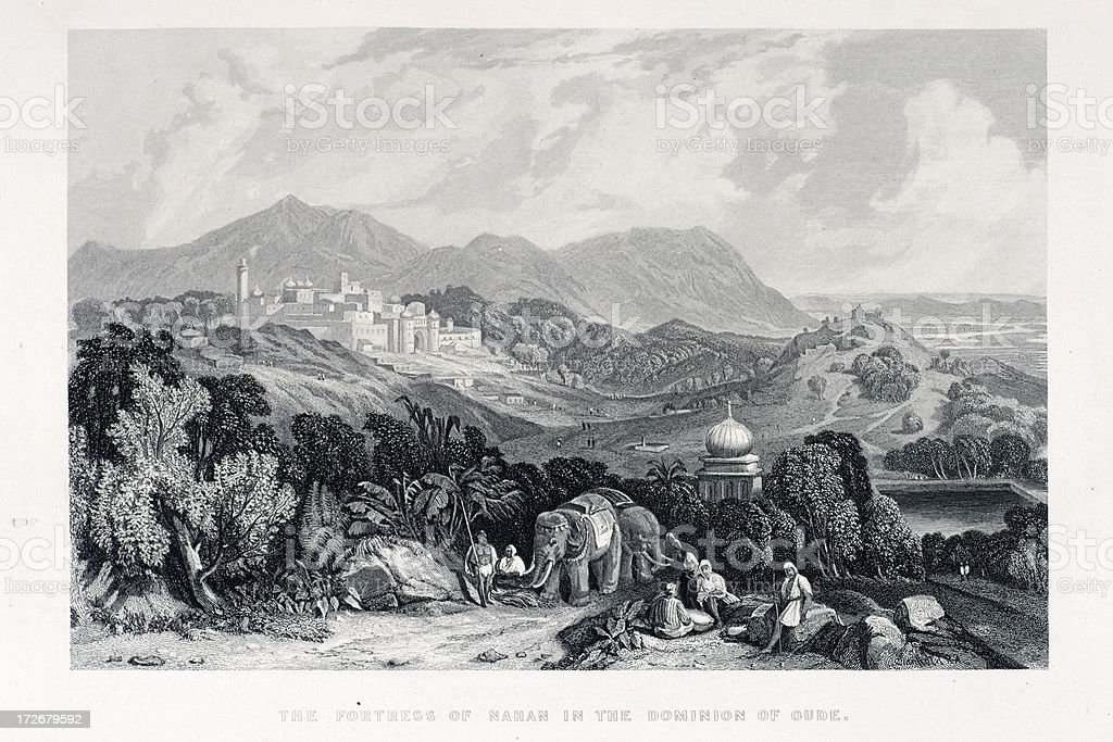 Fortress of Nahan vector art illustration