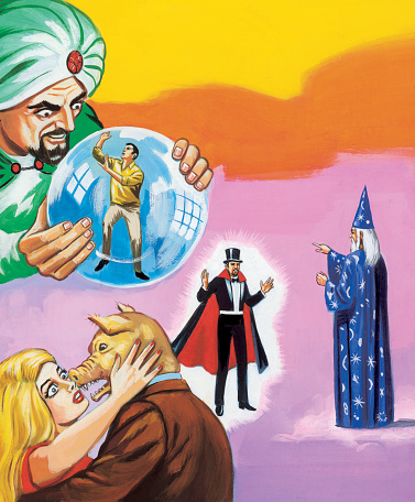 Fortune Teller, Magician and Wizard