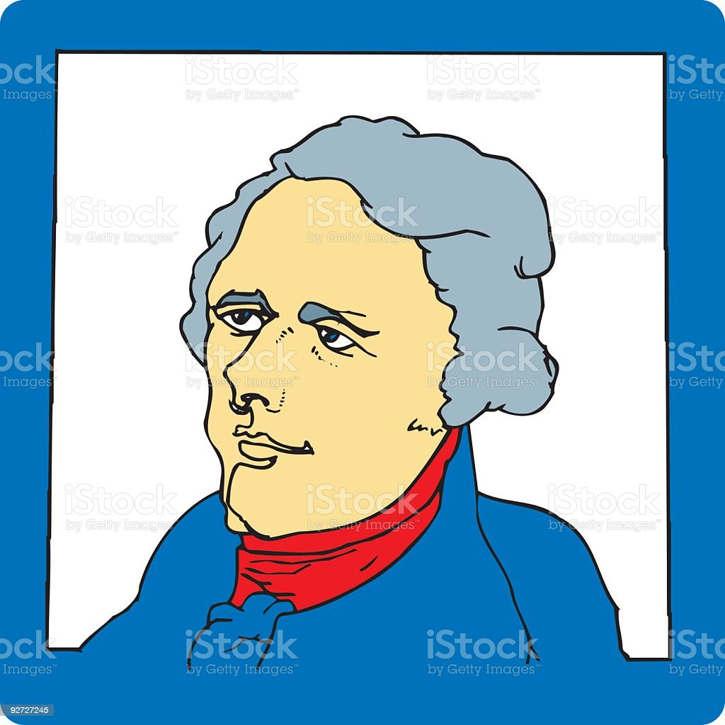 Founding Father (vector illustration) royalty-free stock vector art
