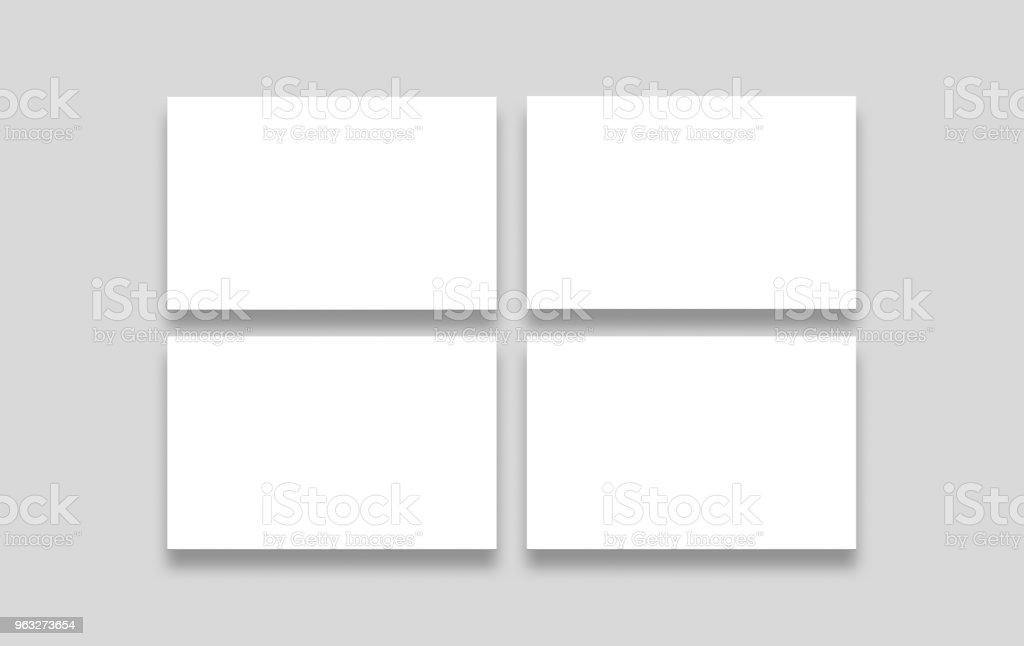Ilustrao de quatro em branco branco carto 85 x 55 mockup isolada quatro em branco branco carto 85 x 55 mock up isolada em um fundo reheart Choice Image