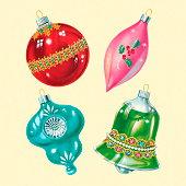Four Christmas Ornaments