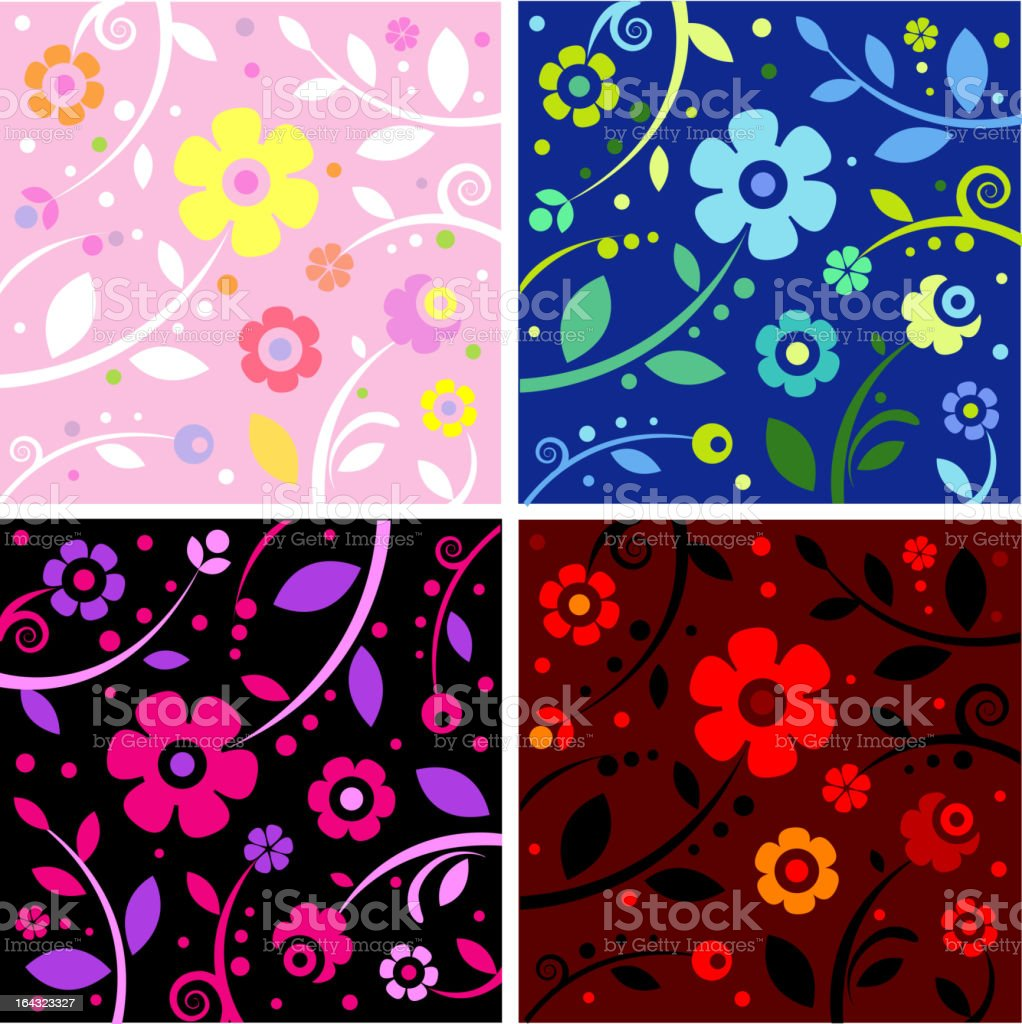 Four color types of pattern royalty-free stock vector art