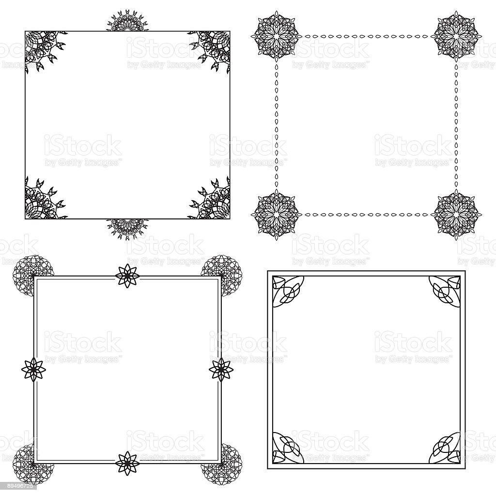 Four decorative borders royalty free four decorative borders stockvectorkunst en meer beelden van illustratie