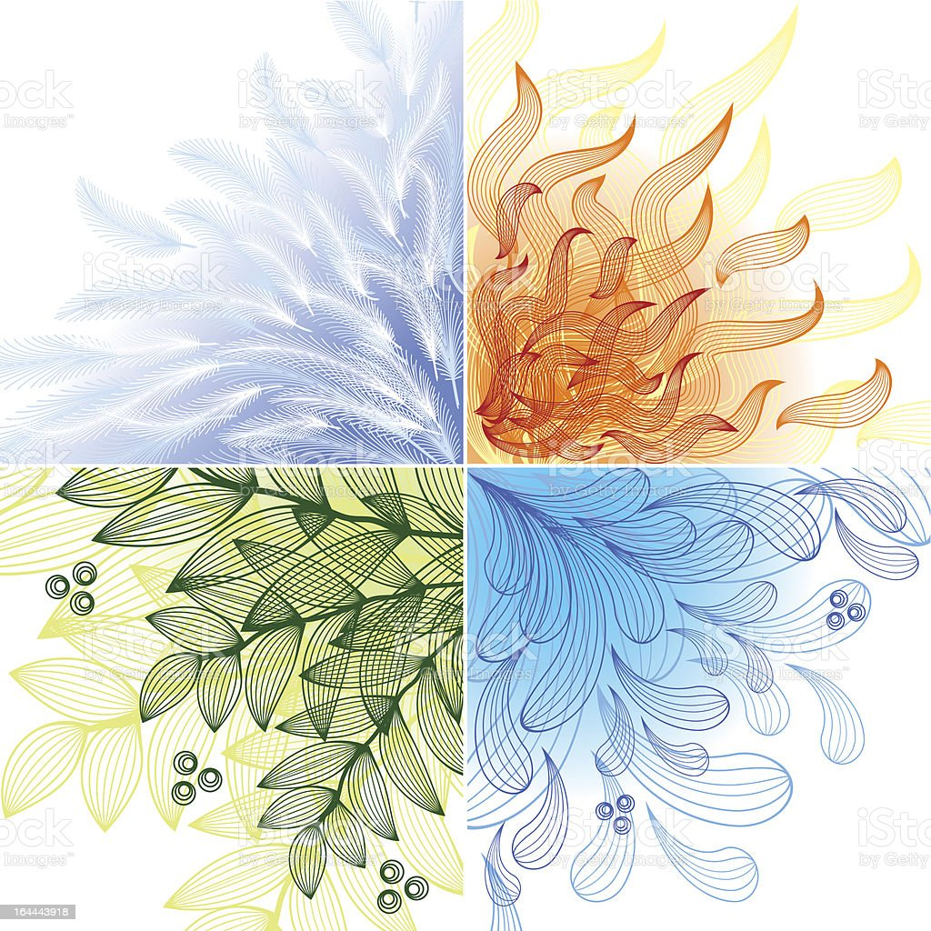 Four Elements Art : Four elements stock vector art more images of beauty