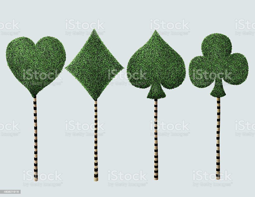 Quattro sogni di albero - illustrazione arte vettoriale