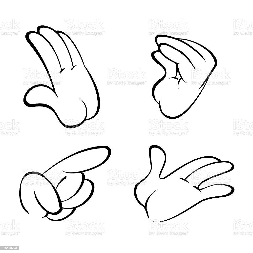 Quattro dita delle mani quattro dita delle mani - immagini vettoriali stock e altre immagini di comunicazione royalty-free