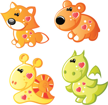 Four funny animals 3
