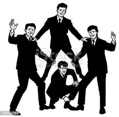 istock Four Guys Posing 152407384
