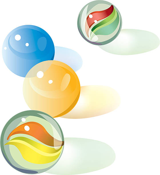 Four marbles.eps vector art illustration