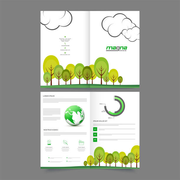 royalty free eco green abstract brochure report flyer magazine