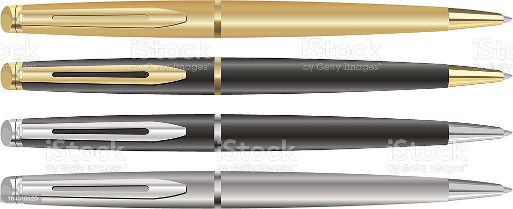 Four pen vector art illustration