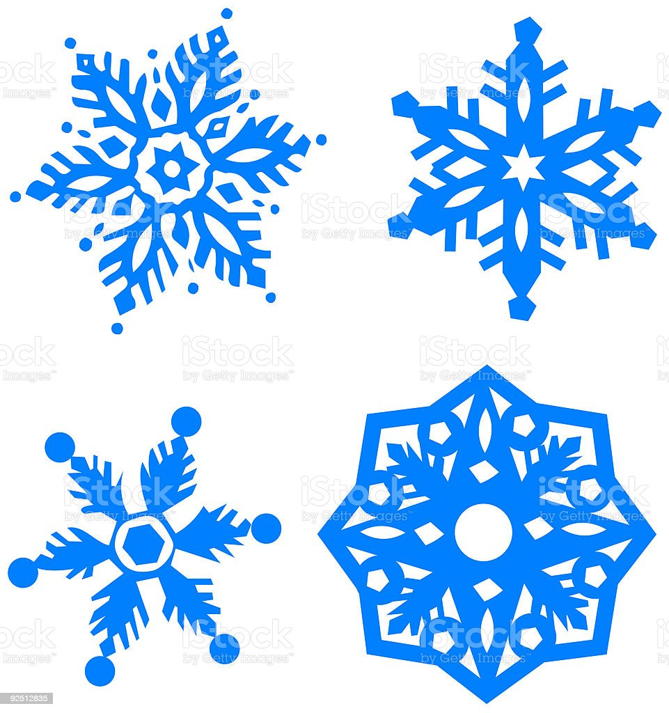 Super Quatrequatre Types De Flocons De Neige Vector – Cliparts  GW43