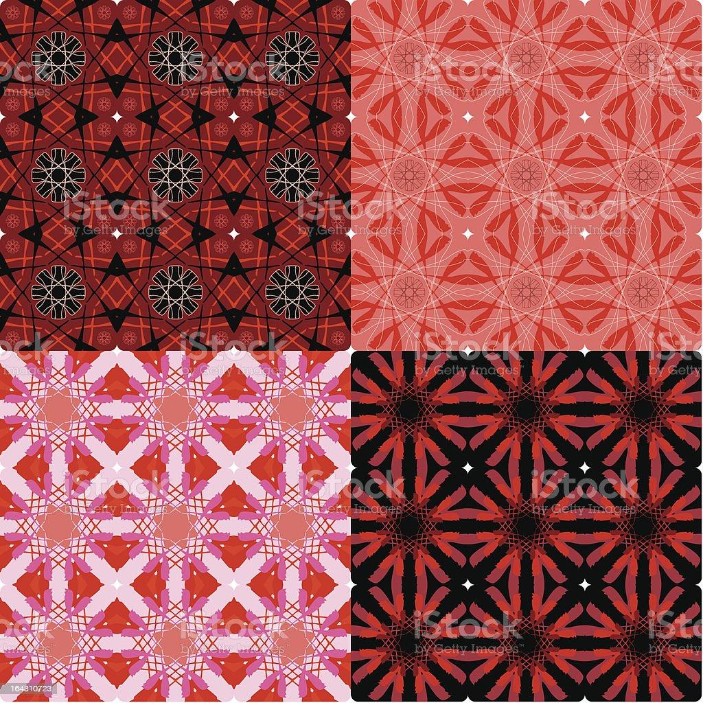 Four Unique Vintage Seamless Tile Patterns royalty-free stock vector art