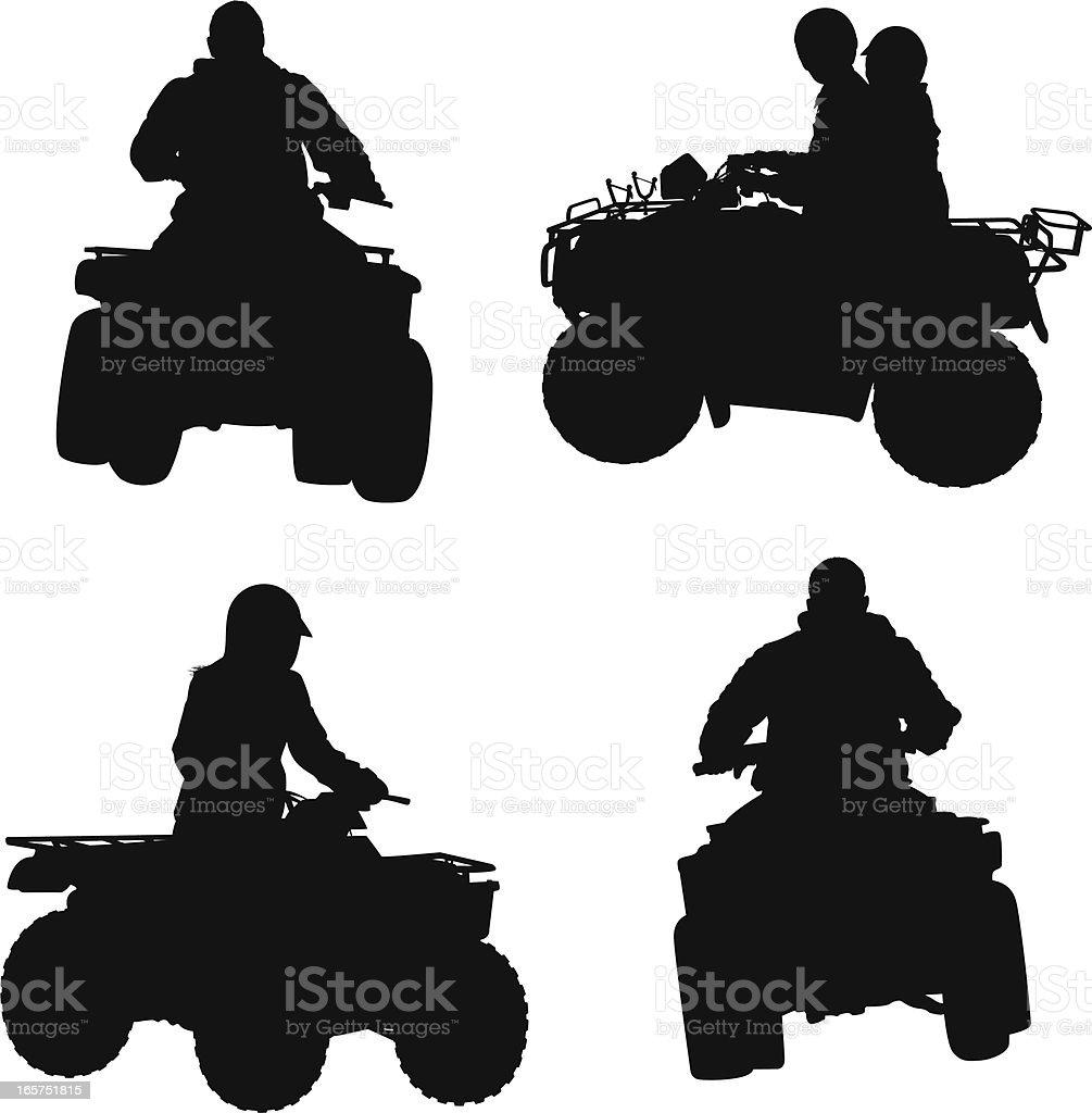 ATV four wheeler riding royalty-free stock vector art