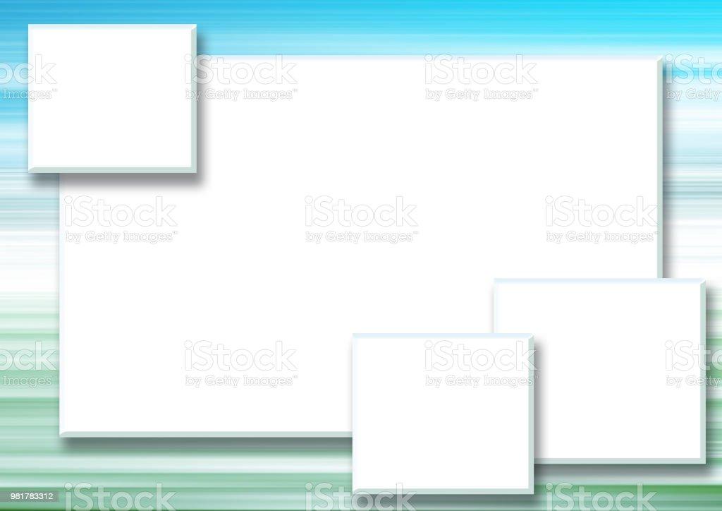 Ilustración de Cuatro Cuadros De Texto Rectangular Blanco De Un Azul ...