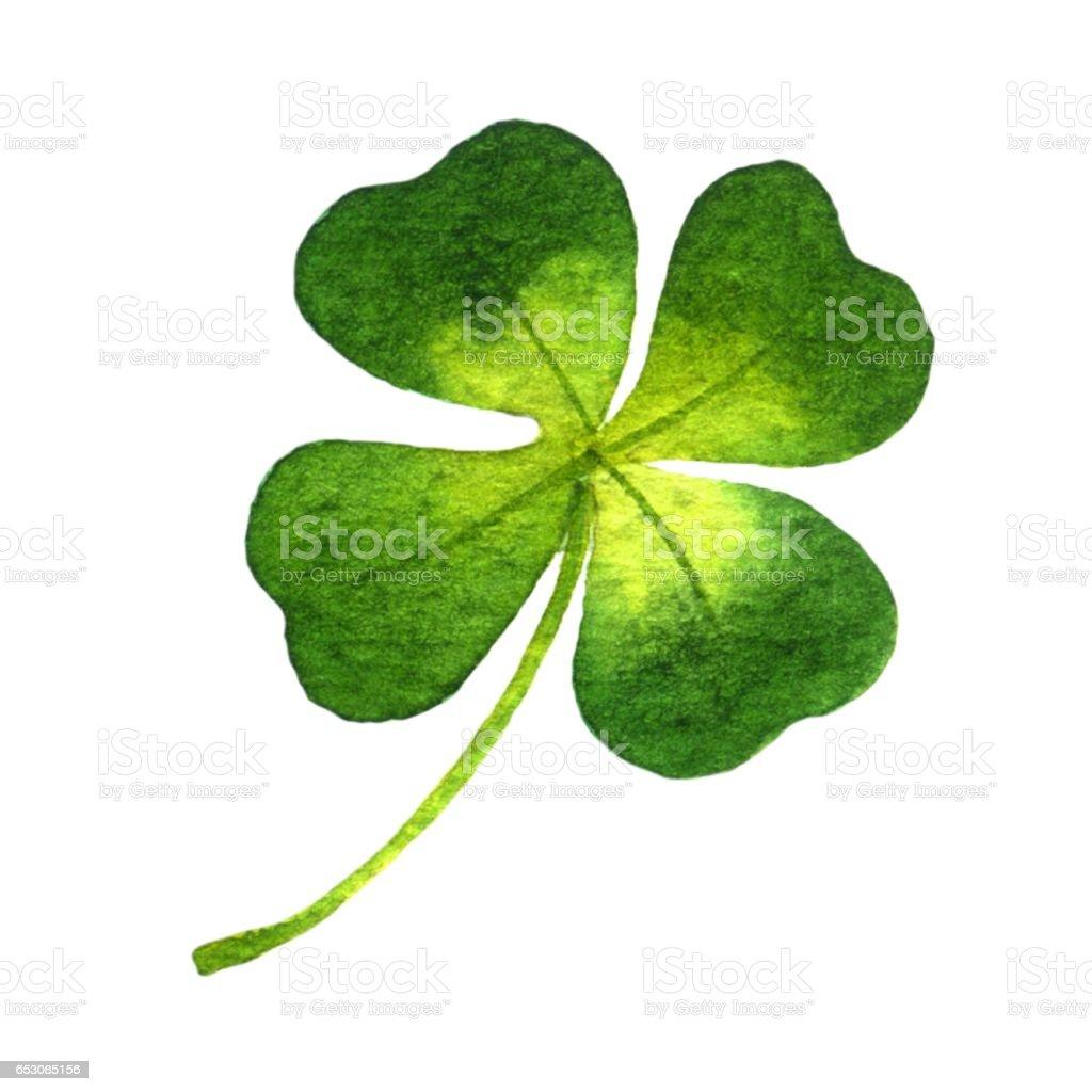 Four-leaf clover vector art illustration