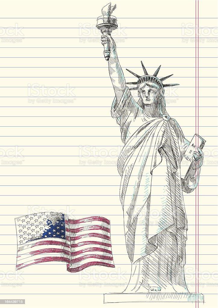 Fourth of July Doodles vector art illustration