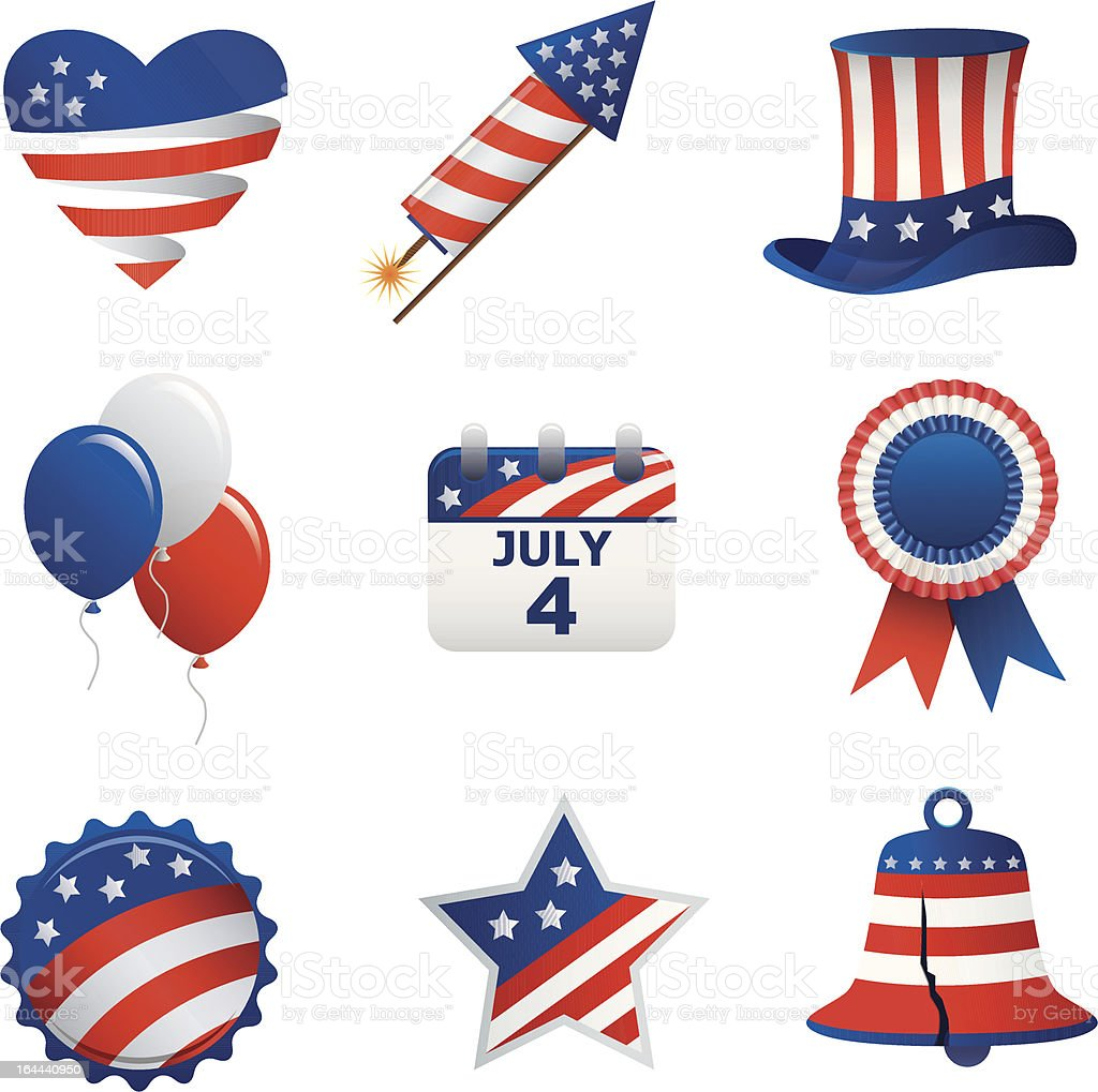 Fourth of july icons stock vector art more images of blue fourth of july icons royalty free fourth of july icons stock vector art amp biocorpaavc