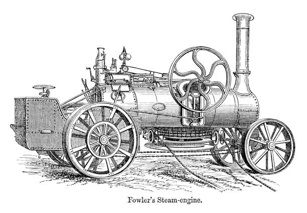 Best Antique Tractor Illustrations, Royalty-Free Vector