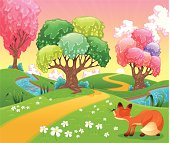 Background is my creative handdrawing and you can use it for spring, summer, kid's, Easter's design and etc, made in vector, Adobe Illustrator 10 EPS file, transparency and mesh effects used in file.