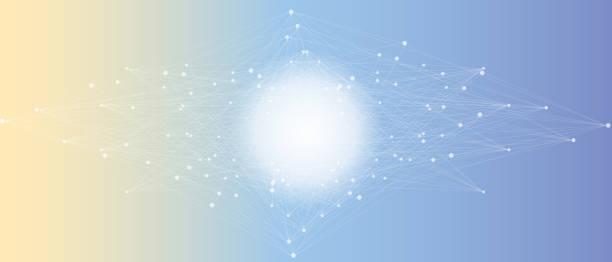 分形抽象元素與連接的線和點,插圖。向量藝術插圖