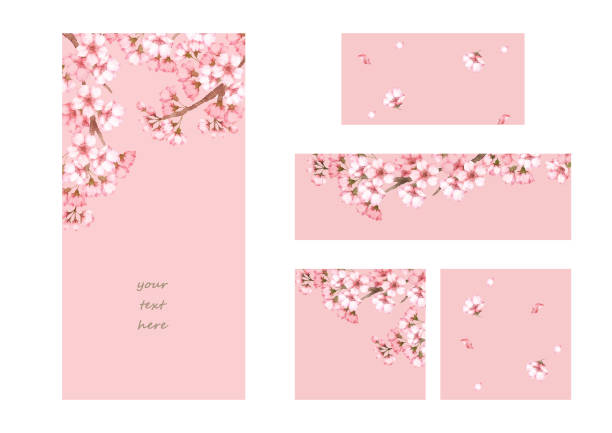 フレームとバナー、桜 - 桜点のイラスト素材/クリップアート素材/マンガ素材/アイコン素材