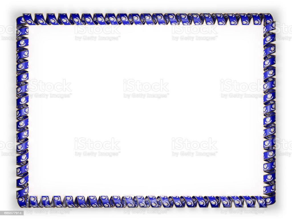 框架和絲帶系州路易斯安那州旗,美國,從金繩磨邊的邊框。3d 圖 免版稅 框架和絲帶系州路易斯安那州旗美國從金繩磨邊的邊框3d 圖 向量插圖及更多 人 圖片